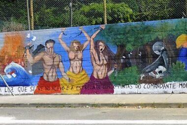Pinta Pasado Crea Futuro, mural sobre memoria histórica en Fene