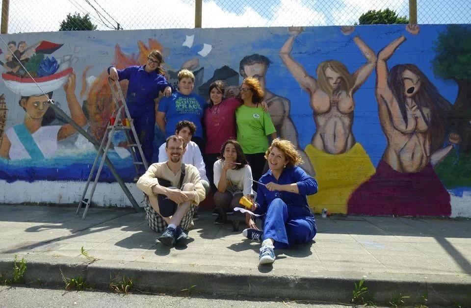 Pinta Pasado Crea Futuro, un mural sobre memoria histórica en Fene