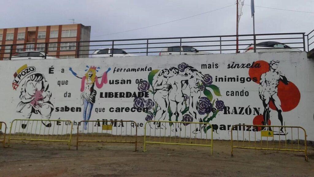 Mural en Rúa Lameiro en Fene